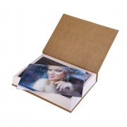 A set of 20 photo cards (wooden box)