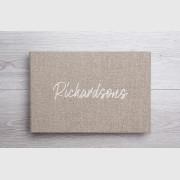 Traditional album.Linen